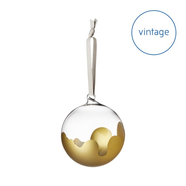 Aalto glass ball 80 mm clear/gold