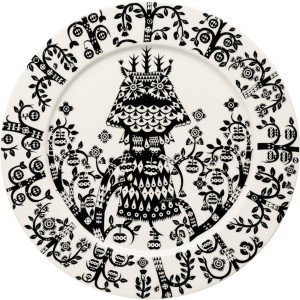 Iittala Taika Plate 27 Cm Black Iittalacom